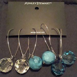 Women's NWT Ashley Stewart Set Of 3 Earrings